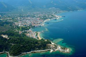 Aerial photo of Thassos Town